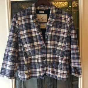 Hollister plaid blazer size large